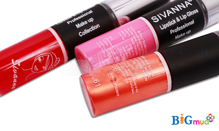 Son 2 đầu Sivanna Lipstick Lip GLoss