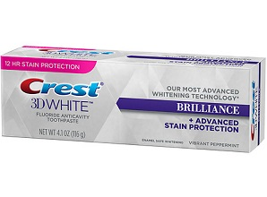 Kem Đánh Răng Crest 3D White Brilliance Advanced Stain Protection (116g)