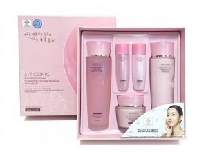 Bộ dưỡng ẩm 3W Clinic Flower Effect Extra Moisturizing Skin Care Set