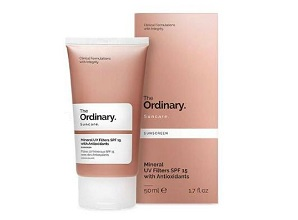 Kem Chống Nắng The Ordinary Mineral UV Filters SPF 15 with Antioxidants (50ml)